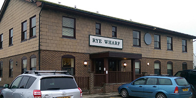 entrance to rye wharf building